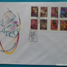 Sellos: 2005-ESPAÑA-FDC-HOJITA-BLOC-(SOBRE GRANDE)-EL CIRCO. Lote 289595933