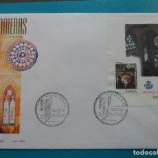 Sellos: 2005-ESPAÑA-FDC-HOJITA-BLOC-(SOBRE GRANDE)-VIDRIERAS DE LA CATEDRAL DE AVILA. Lote 289597878