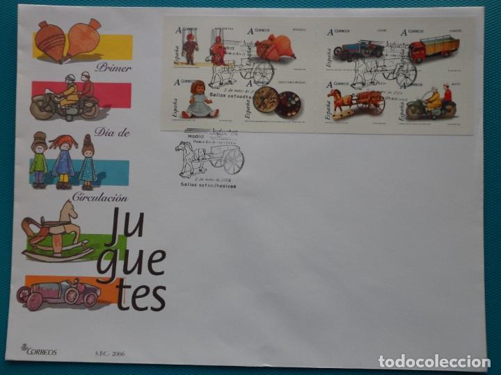 2006-ESPAÑA-FDC-HOJITA-BLOC-(SOBRE GRANDE)-JUGUETES TARIFA A (Sellos - España - Entero Postales)