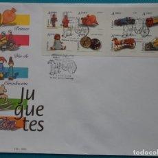 Sellos: 2006-ESPAÑA-FDC-HOJITA-BLOC-(SOBRE GRANDE)-JUGUETES TARIFA A. Lote 289598183