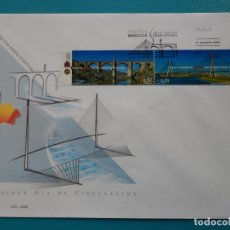 Sellos: 2006-ESPAÑA-FDC-HOJITA-BLOC-(SOBRE GRANDE)-PUENTES IBERICOS-EMISION CONJUNTA CON PORTUGAL. Lote 289600058