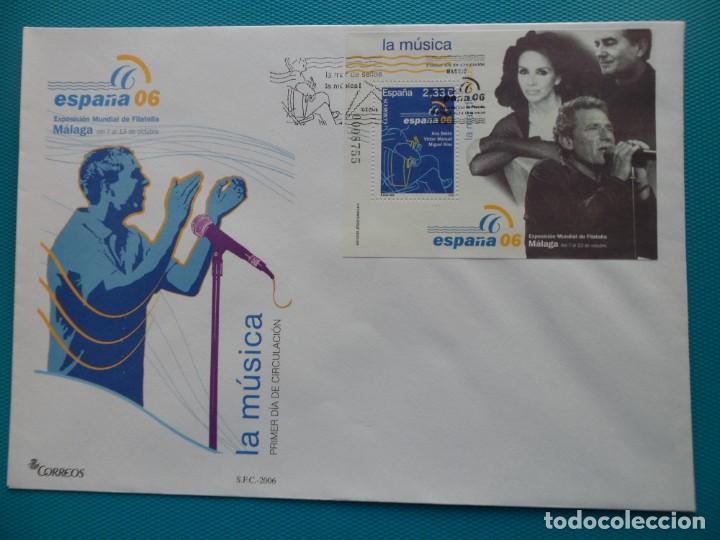 Sellos: 2006-ESPAÑA-FDC-HOJITA-BLOC-(SOBRE GRANDE)-EXPO.MUNDIAL DE FILATELIA ESPAÑA 06-MALAGA(7 FDC) - Foto 3 - 289601023
