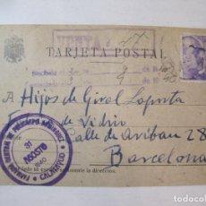 Sellos: SELLO FARMACIA CENTRAL POLICARPO DOMINGUEZ-CALATAYUD-ENTERO POSTAL ESPAÑA-VER FOTOS-(84.947). Lote 293651743