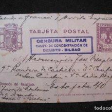Sellos: CENSURA MILITAR CAMPO DE CONCENTRACION DE DEUSTO (BILBAO)-ENTERO POSTAL-VER FOTOS-(85.309). Lote 296885583