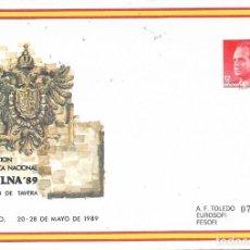 Sellos: ESPAÑA. SOBRE ENTERO POSTAL. EXPOSICION FILATELICA NACIONAL EXFILNA'89 TOLEDO. Lote 297086418
