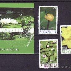 Sellos: ESLOVENIA AÑO 2007 SIN CHARNELA, FLORES, . Lote 10840095
