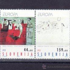 Sellos: ESLOVENIA 46/7 SIN CHARNELA, TEMA EUROPA, ARTE CONTEMPORANEO . Lote 25633470