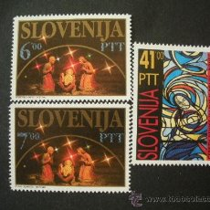 Sellos: ESLOVENIA 1992 IVERT 31/3 *** NAVIDAD. Lote 34561441