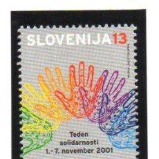 Sellos: ESLOVENIA.- 2001, BENEFICIENCIA, EN NUEVO. Lote 36064492