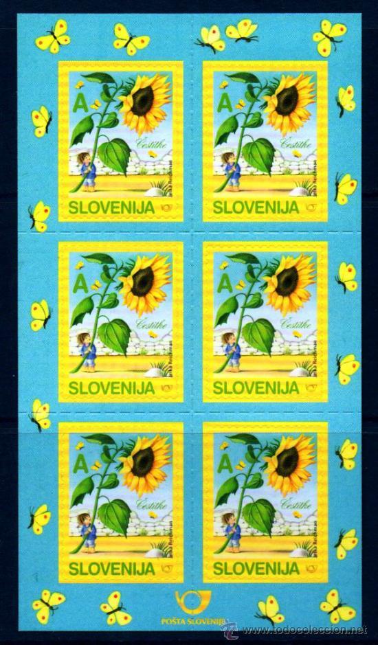 ESLOVENIA.- CARNET CON SEIS SELLOS, EN NUEVO (Sellos - Extranjero - Europa - Eslovenia)