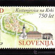Sellos: ESLOVENIA 364** - AÑO 2002 - 750º ANIVERSARIO DE LA CIUDAD DE KOSTANJEVICA. Lote 38179592