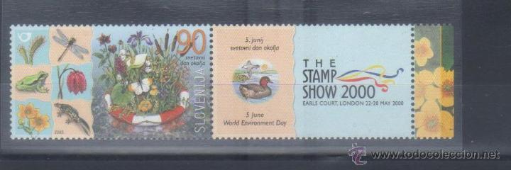 ESLOVENIA 2000 EXPO FILATELIA CON BANDELETA NUEVO LUJO MNH *** (Sellos - Extranjero - Europa - Eslovenia)