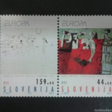 Sellos: SELLOS DE ESLOVENIA. EUROPA CEPT. YVERT 46/7. SERIE COMPLETA NUEVA SIN CHARNELA. Lote 57740674