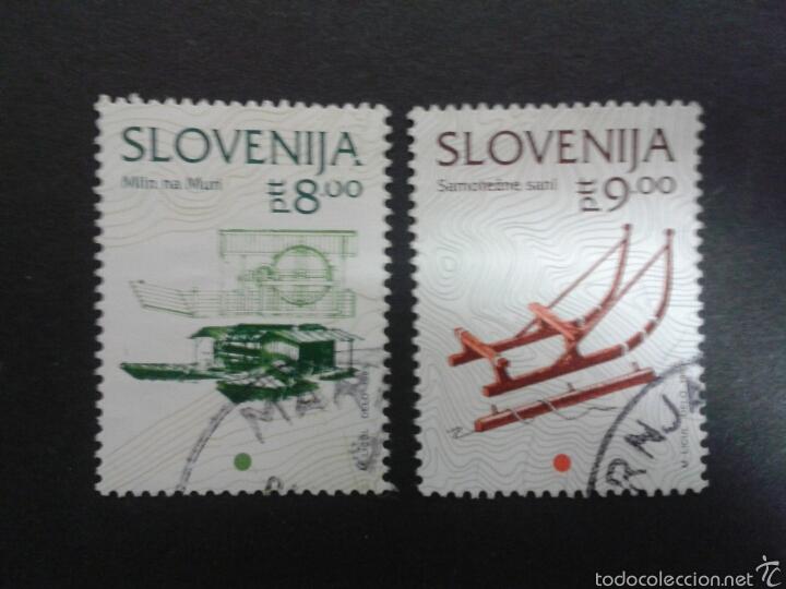 SELLOS DE ESLOVENIA. YVERT 63/4. SERIE COMPLETA USADA (Sellos - Extranjero - Europa - Eslovenia)