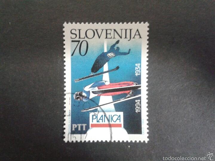 SELLOS DE ESLOVENIA. DEPORTES. ESQUÍ. YVERT 76. SERIE COMPLETA USADA. (Sellos - Extranjero - Europa - Eslovenia)