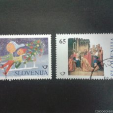 Sellos: SELLOS DE ESLOVENIA. NAVIDAD. YVERT 162/3. SERIE COMPLETA USADA.. Lote 57758814