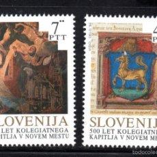 Sellos: ESLOVENIA 43/44** - AÑO 1993 - 5º CENTENARIO DE LA COLEGIALA DE LA CAPILLA DE NOVO MESTO. Lote 60409811