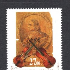 Sellos: ESLOVENIA 19** - AÑO 1992 - MUSICA - TRICENTENARIO DEL NACIMIENTO DE GUISEPPE TARTINI, COMPOSITOR. Lote 63111508