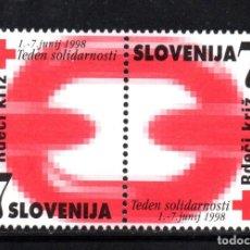 Sellos: ESLOVENIA BENEFICENCIA 16/17** - AÑO 1998 - SEMANA DE LA SOLIDARIDAD. Lote 67579205