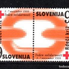 Sellos: ESLOVENIA BENEFICENCIA 18A/18B** - AÑO 1999 - SEMANA DE LA SOLIDARIDAD - CRUZ ROJA. Lote 71523975