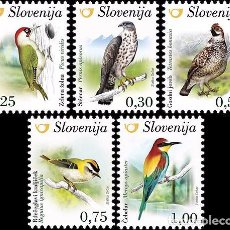 Sellos: SLOVENIA 2016 - BIRDS OF SLOVENIA STAMP SET MNH. Lote 92754580