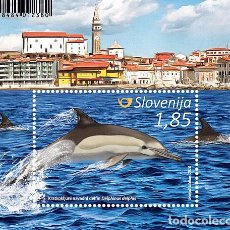 Sellos: SLOVENIA 2016 - DOLPHINS AND WHALES SOUVENIR SHEET MNH. Lote 92755220