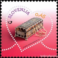 Sellos: SLOVENIA 2017 - GREETINGS STAMP - MINIATURE PAINTED CHEST. Lote 92755895
