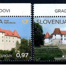 Sellos: SLOVENIA 2017 - EUROPA 2017 CASTLES STAMP SET MNH. Lote 92756460