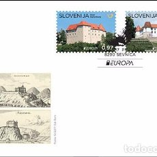 Sellos: SLOVENIA 2017 - EUROPA 2017 CASTLES STAMP SET MNH. Lote 92756535