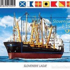 Sellos: SLOVENIA 2017 - SLOVENE SHIPS - MARIBOR SOUVENIR SHEET MNH. Lote 93723499
