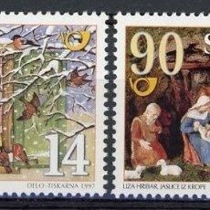 Sellos: ESLOVENIA 1997 IVERT 197/8 *** NAVIDAD Y AÑO NUEVO - PINTURA. Lote 103619203