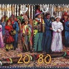 Sellos: ESLOVENIA 1998 IVERT 202/3 *** COSTUMBRES TRADICIONALES DE CARNAVAL. Lote 103619379