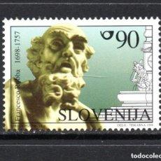 Sellos: ESLOVENIA 1998 IVERT 206 *** 3º CENTENARIO DEL NACIMIENTO DEL ESCULTOR FRANCESCO ROBBA. Lote 103619931