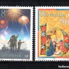 Sellos: ESLOVENIA 1999 IVERT 253/4 *** NAVIDAD Y AÑO NUEVO. Lote 103621823