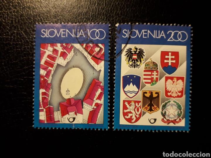 ESLOVENIA. YVERT SELLOS HB-5. SERIE COMPLETA USADA. ESCUDOS. (Sellos - Extranjero - Europa - Eslovenia)