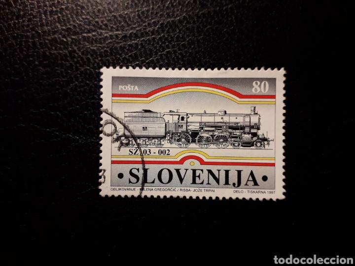 ESLOVENIA. YVERT 175. SERIE COMPLETA USADA. TRENES. (Sellos - Extranjero - Europa - Eslovenia)