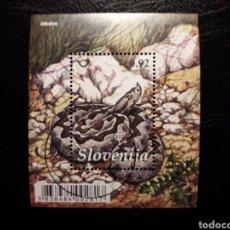 Briefmarken - ESLOVENIA. HB AÑO 2010. 1 VALOR. SERIE COMPLETA USADA. FAUNA. REPTILES. OFIDIOS. SERPIENTES - 138836686