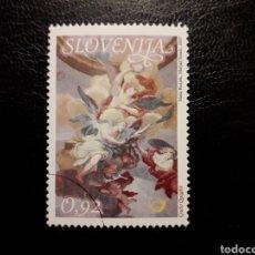 Sellos: ESLOVENIA. YVERT 597. SERIE COMPLETA USADA. PINTURAS. FRESCOS. Lote 138836853