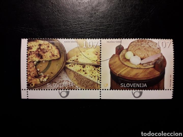 ESLOVENIA. YVERT 492/3. SERIE COMPLETA USADA. GASTRONOMÍA (Sellos - Extranjero - Europa - Eslovenia)