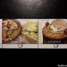Sellos: ESLOVENIA. YVERT 492/3. SERIE COMPLETA USADA. GASTRONOMÍA. Lote 138849673