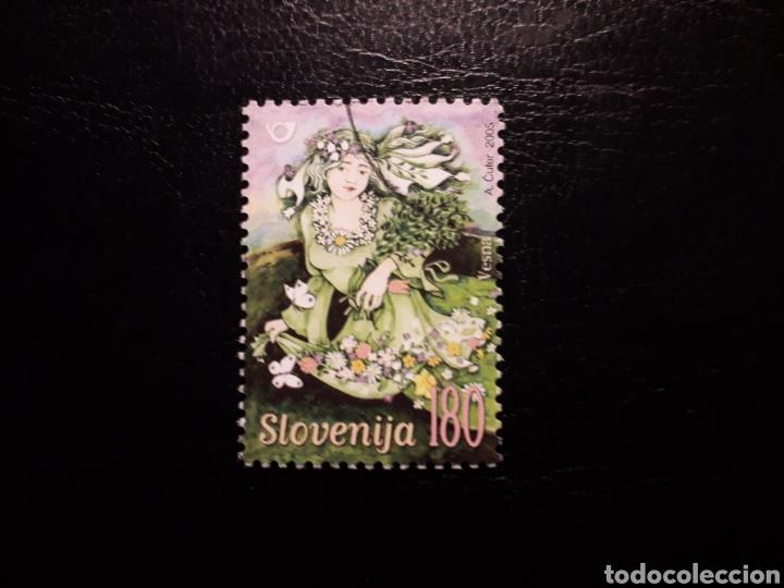 ESLOVENIA. YVERT 471. SERIE COMPLETA USADA. MITOLOGÍA. VESNA (Sellos - Extranjero - Europa - Eslovenia)
