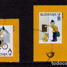 Sellos: ESLOVENIA 2011 - COMICS DE CORREOS - MATASELLADOS DE FAVOR. Lote 152943686