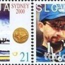 Sellos: ESLOVENIA 2000 - SLOVENIE - OLYMPICS SYDNEY 2000 - YVERT Nº 301-302**. Lote 159990654