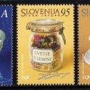 Sellos: ESLOVENIA 2001 - SLOVENIE - POETAS Y ESCRITORES - YVERT Nº 313-315**. Lote 159991894