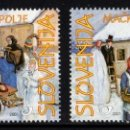 Sellos: ESLOVENIA 2001 - SLOVENIE - FOLCKLORE - YVERT Nº 310-311**. Lote 159992226