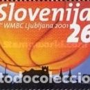 Sellos: ESLOVENIA 2001 - SLOVENIE - CAMPEONATO DEL MUNDO DE BASKETBALL - YVERT Nº 327C**. Lote 160096430