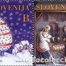 Sellos: ESLOVENIA 2001 - SLOVENIE - NAVIDAD - YVERT Nº 342-343**. Lote 160098006