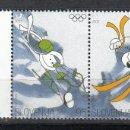 Sellos: ESLOVENIA 2002 - SLOVENIE - OLYMPICS DE SALT LAKE CITY - YVERT Nº 351-352**. Lote 160100042