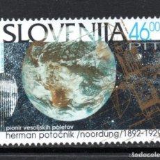 Sellos: ESLOVENIA 1992 IVERT 29 *** CENTENARIO NACIMIENTO HERMAN POTOCNIK - PIONERO VUELOS ESPACIALES. Lote 162285530