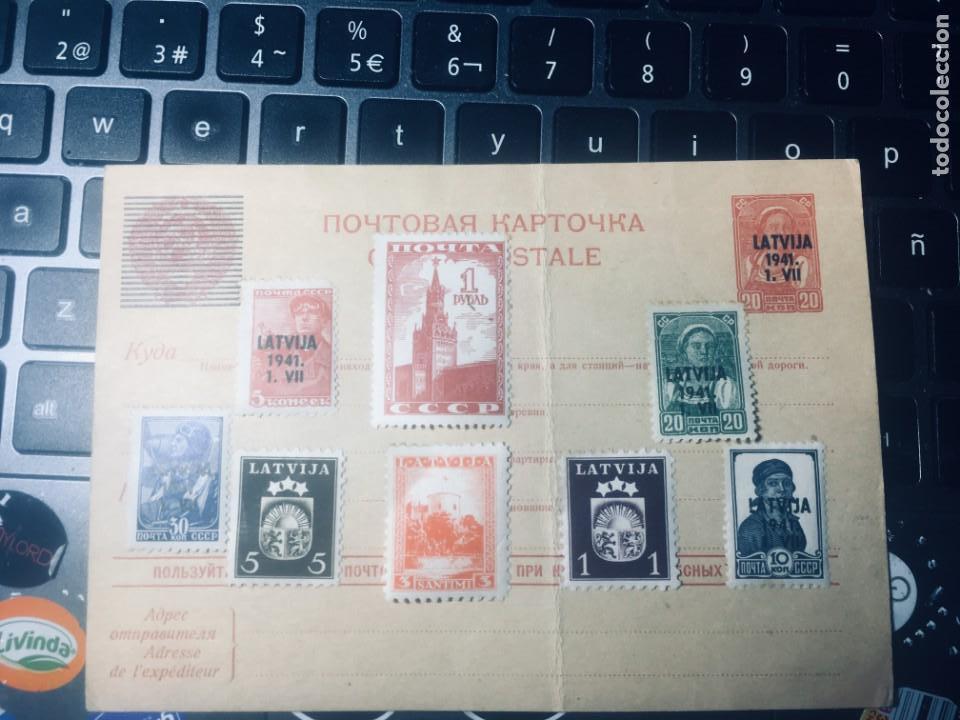 LOTE 8 SELLOS EN NUEVO DEL AÑO 1941 DE LATVIJA VER FOTO (Sellos - Extranjero - Europa - Eslovenia)
